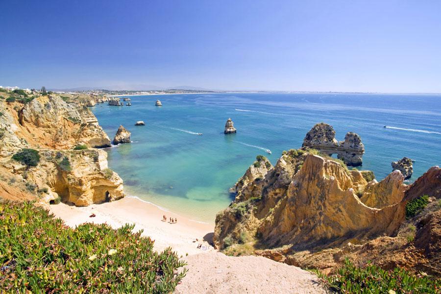 La mejor playa del Algarve Portugal : Da Marinha Playas en el mundo