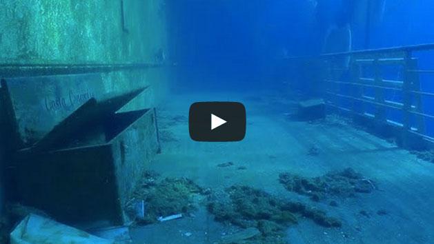 Un paseo submarino por el casco sumergido del Costa Concordia Playas del mundo