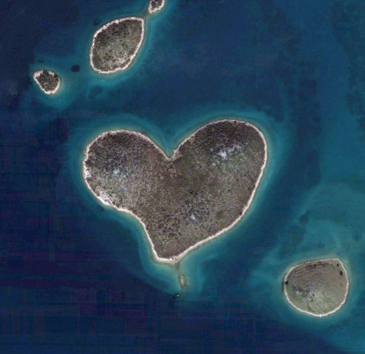 Galesnjak, la isla con forma de corazón