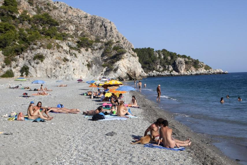 Playa nudista de Cantarrij�n, en Almu�ecar Playas del mundo