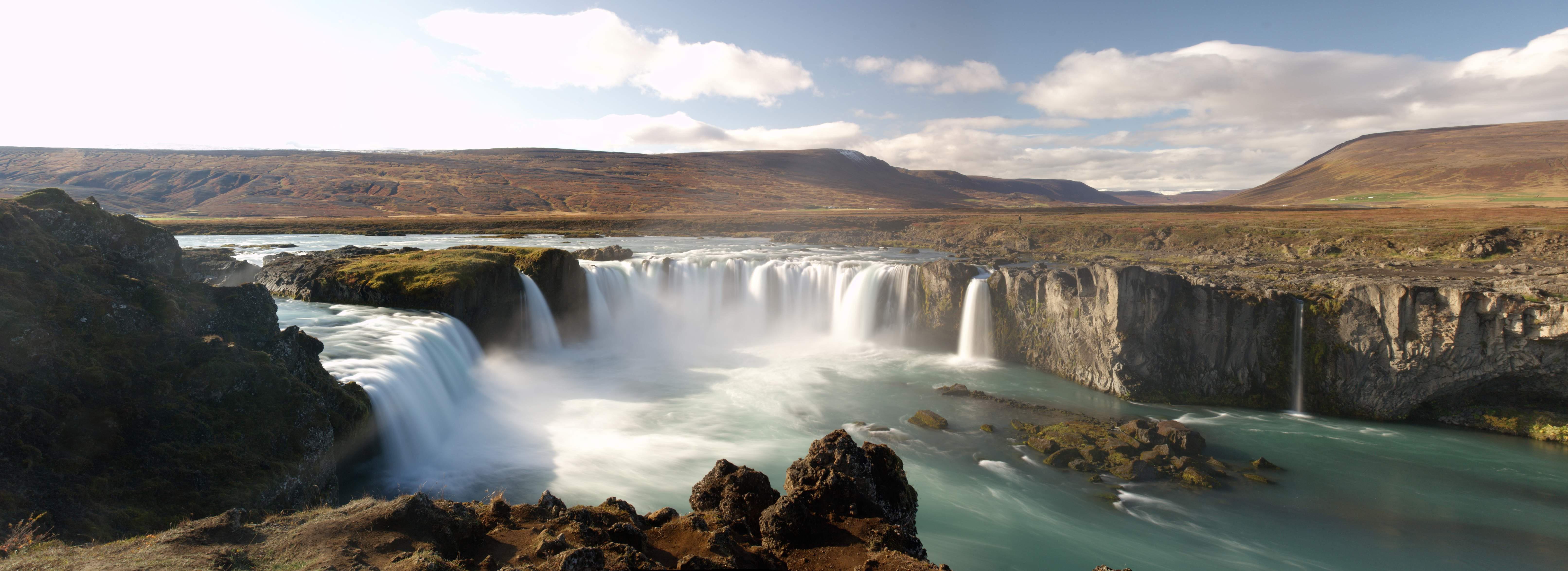 Godafoss, agua y hielo en Islandia Playas del mundo