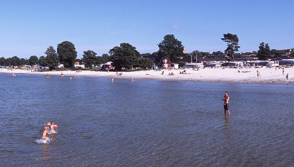 Playa de Köpingsvik en la isla de �?land