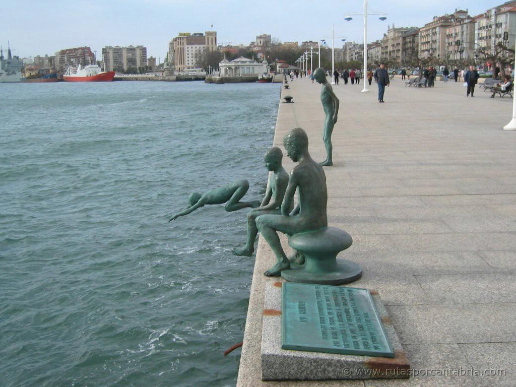 El monumento a los raqueros de Santander España Playas en el mundo