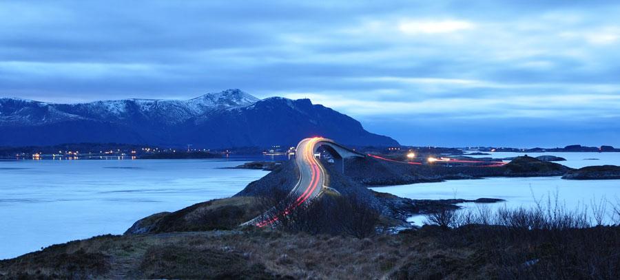 La carretera del Atlántico en Noruega, un viaje de ensueño
