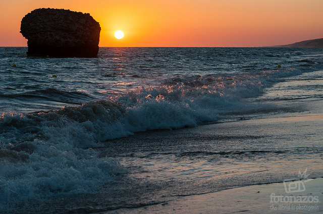 Atardecer en la playa de Matalascañas Portugal