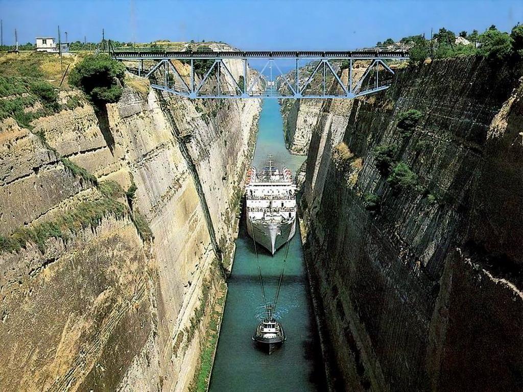 El canal de Corinto en Grecia Playas del mundo