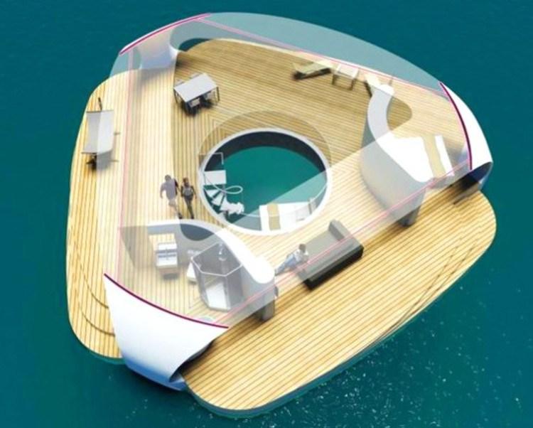 SeaScape, habitar una villa flotante Playas en el mundo